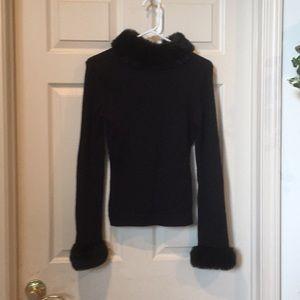 Beautiful Black Fur Lined Sweater